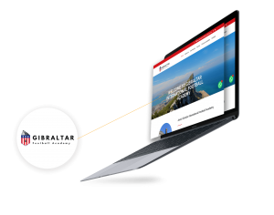 Web Design Gibraltar Football Academy
