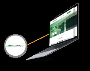 laadpaal123 web design mockup